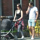 Republic of Telly and 2FM presenter Jennifer Maguire seen out for the first time with her new baby daughter Florence.
