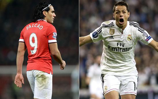 Falcao and (right) Hernandez