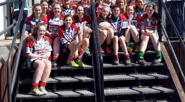 The Mullingar U-15s girls headed off to Galway last Saturday, to compete in an all-Ireland rugby blitz hosted by the Corinthians rugby club