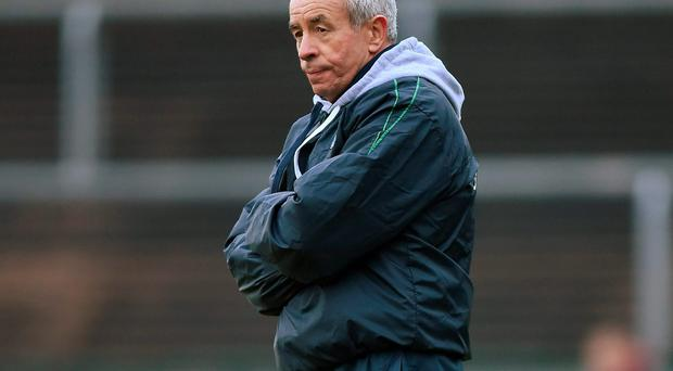 Pete McGrath deep in thought as he watches Fermanagh play