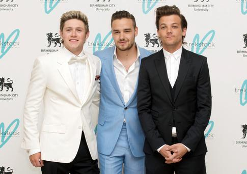 Niall Horan, Liam Payne and Louis Tomlinson of One Direction