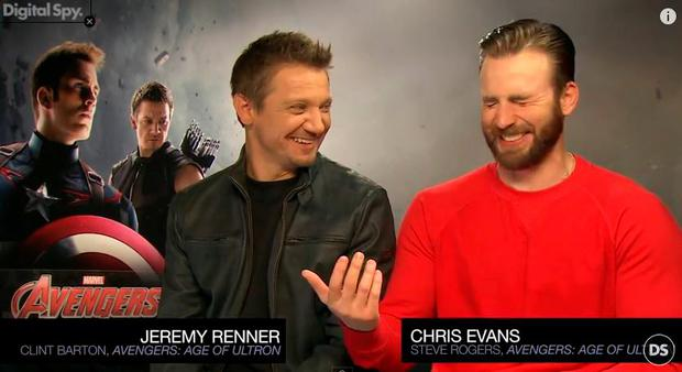 Chris Evans and Jeremy Renner talk to DigitalSpy about new film Avengers: Age of Ultron