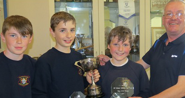 The U13 boys' winners from St Fintan's HS Sutton - Alex Smith, Dylan Moranand Jake Craven.