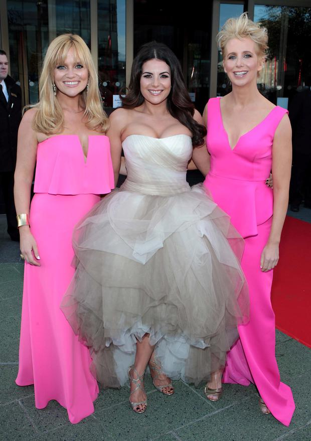 Karen Koster, Lisa Cannon and Aisling O Loughlin on the Red Carpet at The Peter Mark VIP Style Awards 2015 at The Marker Hotel,Dublin. Pictures Brian McEvoy