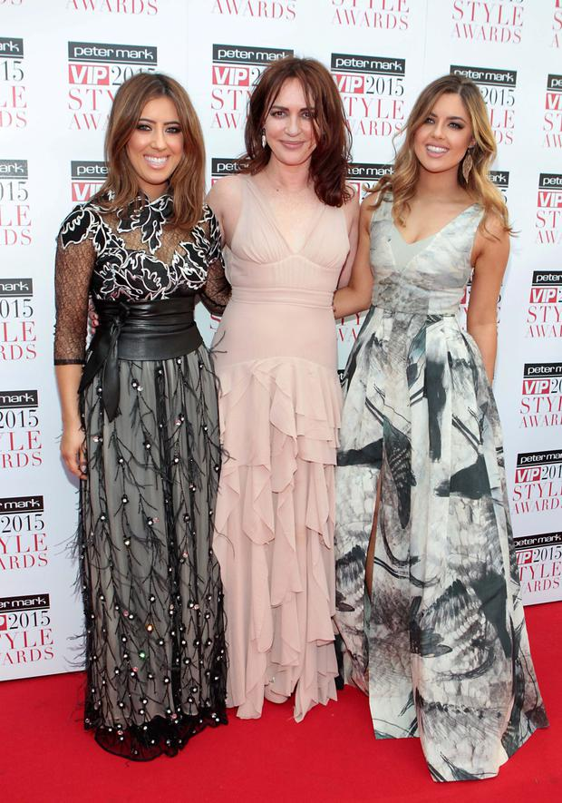 Lottie, Morah and Bonnie Ryan on the Red Carpet at The Peter Mark VIP Style Awards 2015 at The Marker Hotel,Dublin. Pictures Brian McEvoy