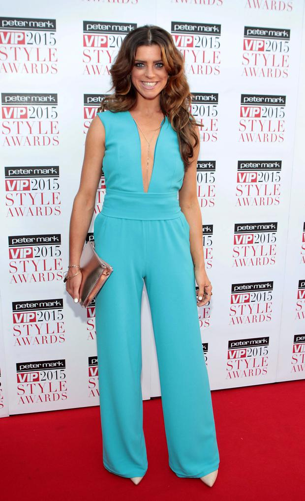 Aoibheann McGinnity on the Red Carpet at The Peter Mark VIP Style Awards 2015 at The Marker Hotel,Dublin Pictures Brian McEvoy