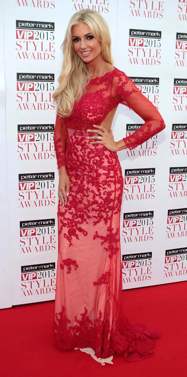Rosanna Davison on the Red Carpet at The Peter Mark VIP Style Awards 2015 at The Marker Hotel,Dublin. Pictures Brian McEvoy