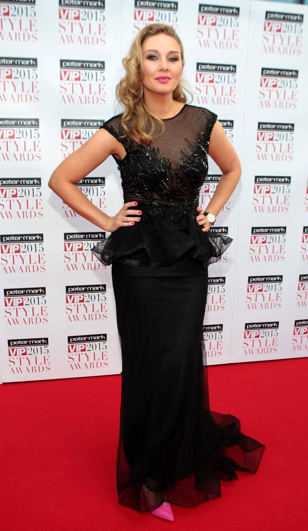 Anna Daly on the Red Carpet at The Peter Mark VIP Style Awards 2015 at The Marker Hotel,Dublin. Pictures Brian McEvoy