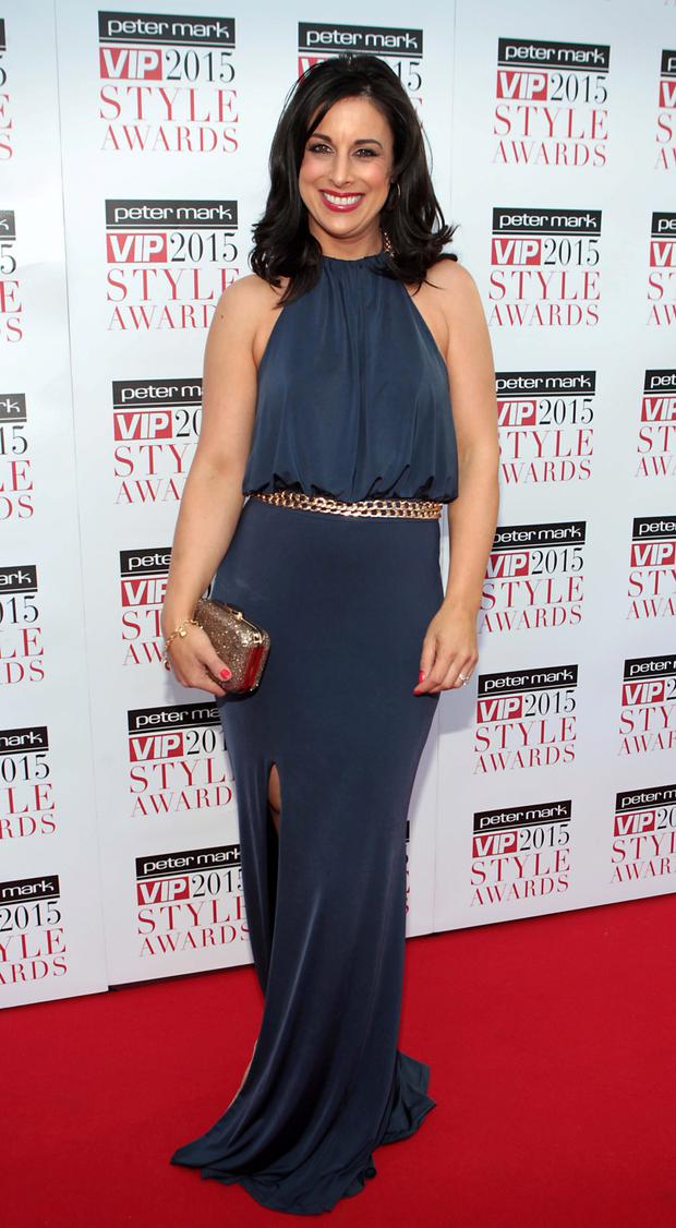 Lucy Kennedy on the Red Carpet at The Peter Mark VIP Style Awards 2015 at The Marker Hotel. Pic: Brian McEvoy