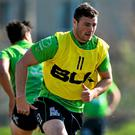 Connacht's Robbie Henshaw will be looking to continue his budding partnership with Bundee Aki at centre today. Ramsey Cardy / SPORTSFILE