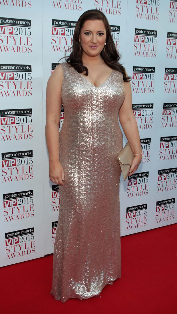 Elaine Crowley on the Red Carpet at The Peter Mark VIP Style Awards 2015 at The Marker Hotel,Dublin. Pictures Brian McEvoy
