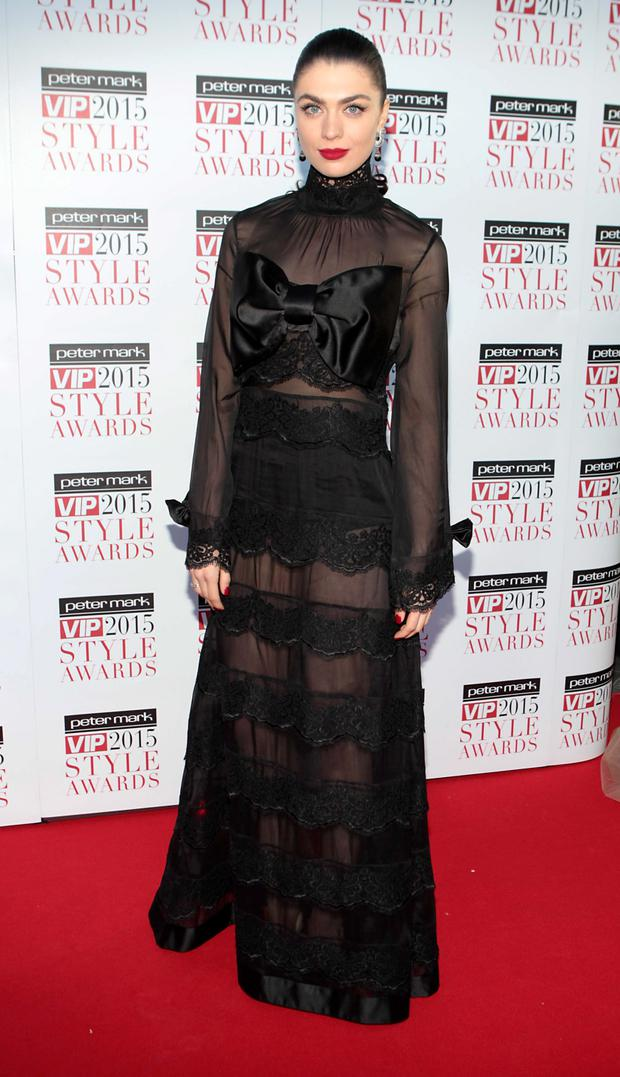 Aisling Quinn on the Red Carpet at The Peter Mark VIP Style Awards 2015 at The Marker Hotel,Dublin. Pictures Brian McEvoy