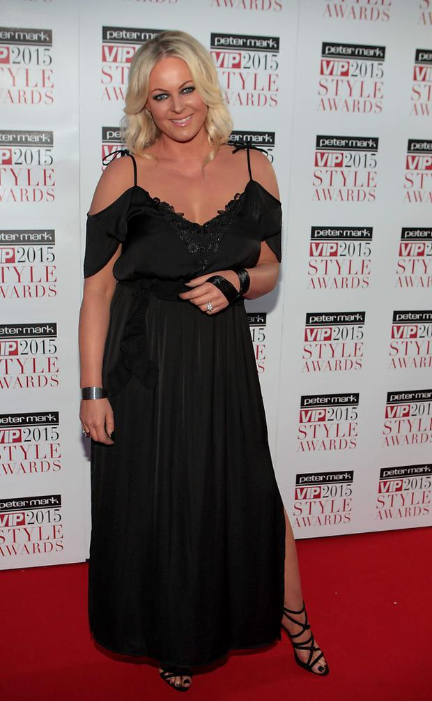 Amanda Brunker at The Peter Mark VIP Style Awards 2015 at The Marker Hotel,Dublin. Pictures Brian McEvoy
