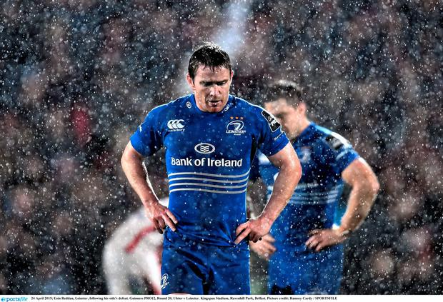 24 April 2015; Eoin Reddan, Leinster, following his side's defeat. Guinness PRO12, Round 20, Ulster v Leinster. Kingspan Stadium, Ravenhill Park, Belfast. Picture credit: Ramsey Cardy / SPORTSFILE
