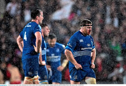 24 April 2015; Sean Cronin, Leinster, following his side's defeat. Guinness PRO12, Round 20, Ulster v Leinster. Kingspan Stadium, Ravenhill Park, Belfast. Picture credit: Ramsey Cardy / SPORTSFILE