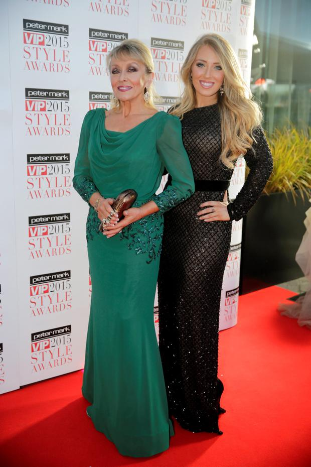 Adele King aka Twink and daughter Chloe pictured at the VIP Style Awards at the Marker Hotel in Dublin. Picture:Arthur Carron