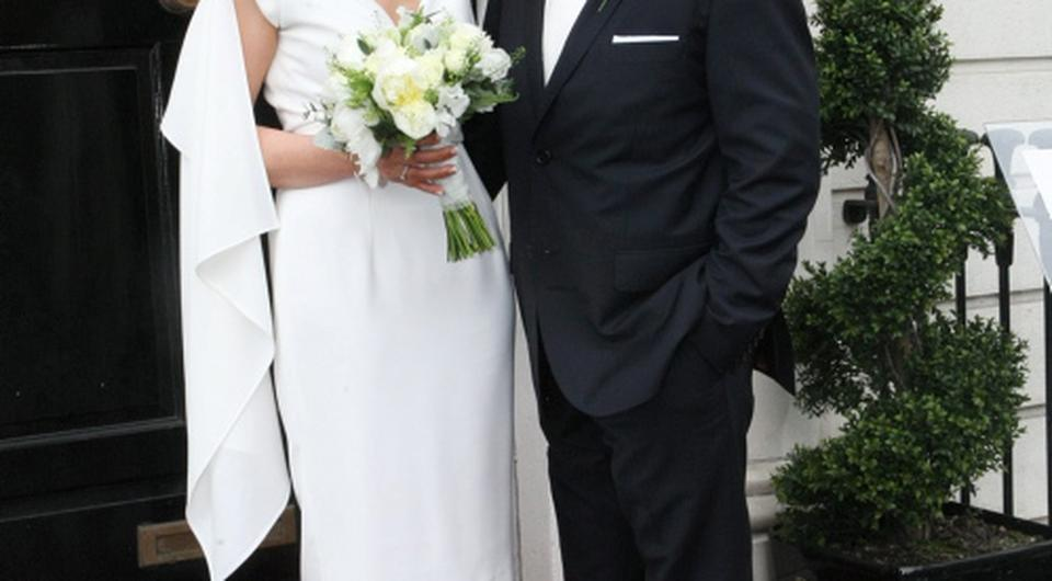 Kate Egan (RTE news reader) married Paul McNeive at the National Gallery of Ireland Pic: Mark Doyle