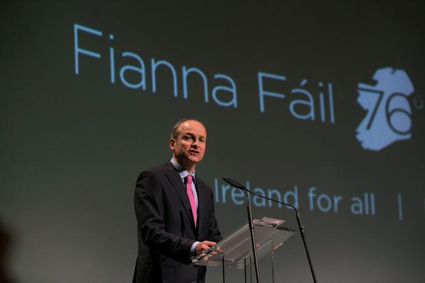 Leader of Fianna F?il Miche?l Martin at the opening of party Ard Fheis 2015 in the RDS. Pic:Mark Condren 24.4.2015