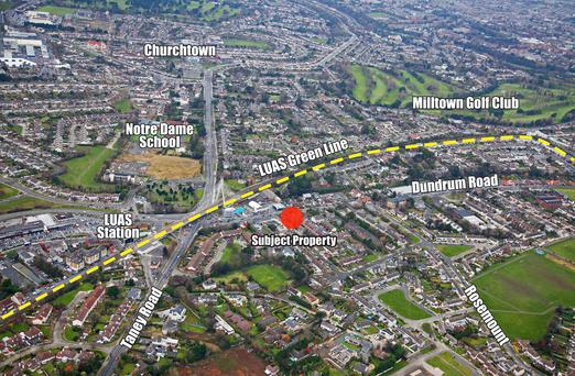 CBRE are seeking €625,000 for this site in Dundrum