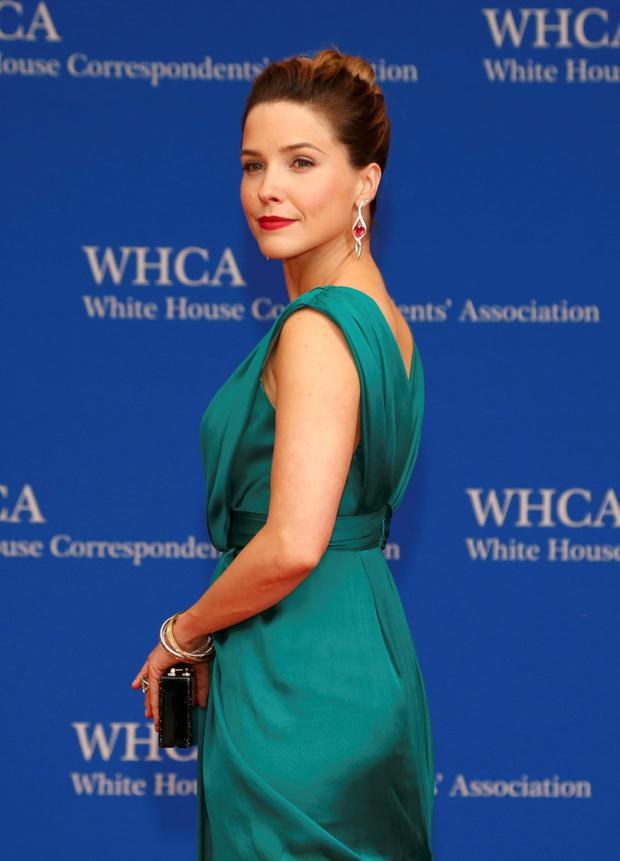 Actress Sophia Bush arrives for the annual White House Correspondents' Association dinner in Washington April 25, 2015. REUTERS/Jonathan Ernst