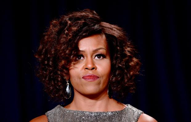 WASHINGTON, DC - APRIL 25: US First Lady Michelle Obama attends the annual White House Correspondent's Association Gala at the Washington Hilton hotel April 25, 2015 in Washington, D.C. The dinner is an annual event attended by journalists, politicians and celebrities. (Photo by Olivier Douliery-Pool/Getty Images)