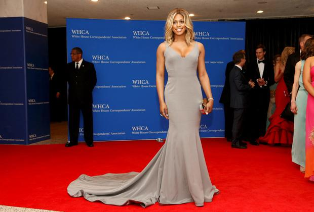 Actress Laverne Cox arrives for the annual White House Correspondents' Association dinner in Washington April 25, 2015. REUTERS/Jonathan Ernst