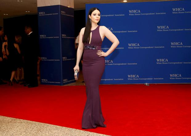 Actress Michelle Trachtenberg arrives for the annual White House Correspondents' Association dinner in Washington April 25, 2015. REUTERS/Jonathan Ernst