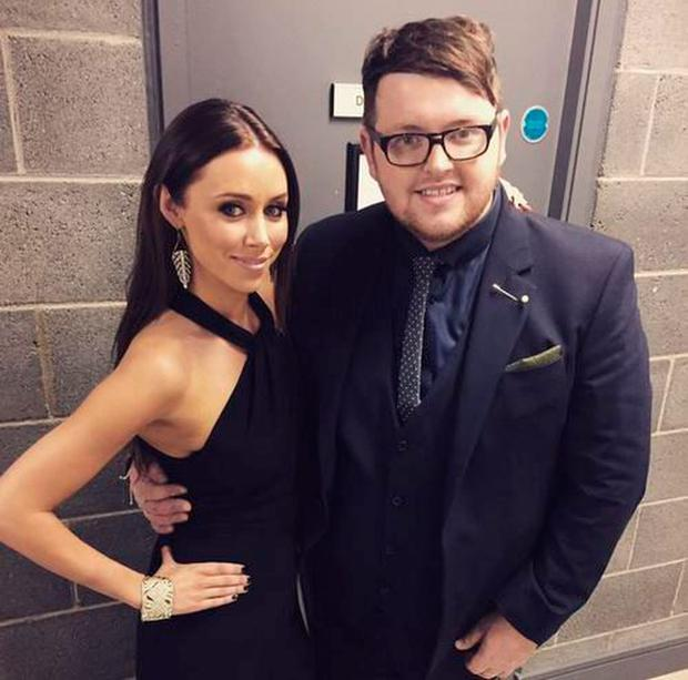 Patrick Donoghue with Una Foden on The Voice of Ireland