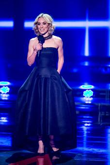 Kathryn Thomas during the Final live show of The Voice of Ireland in The Helix. NO FEE PIX KOBPIX