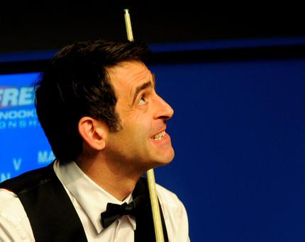 O'Sullivan was spoken to by the referee Olivier Marteel towards the end of the afternoon session – and warned about his behaviour