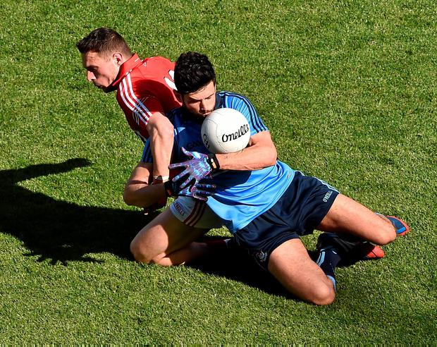 The most important selection decision was placing Cian O'Sullivan – here pictured battling against Cork's John O'Rourke – at centre-half back