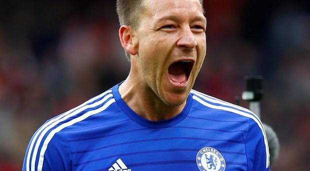 John Terry celebrates after the final whistle