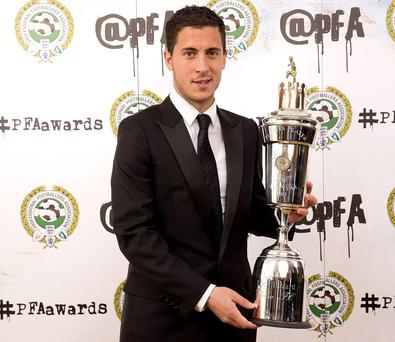 Eden Hazard was crowned PFA Player of the Year last night