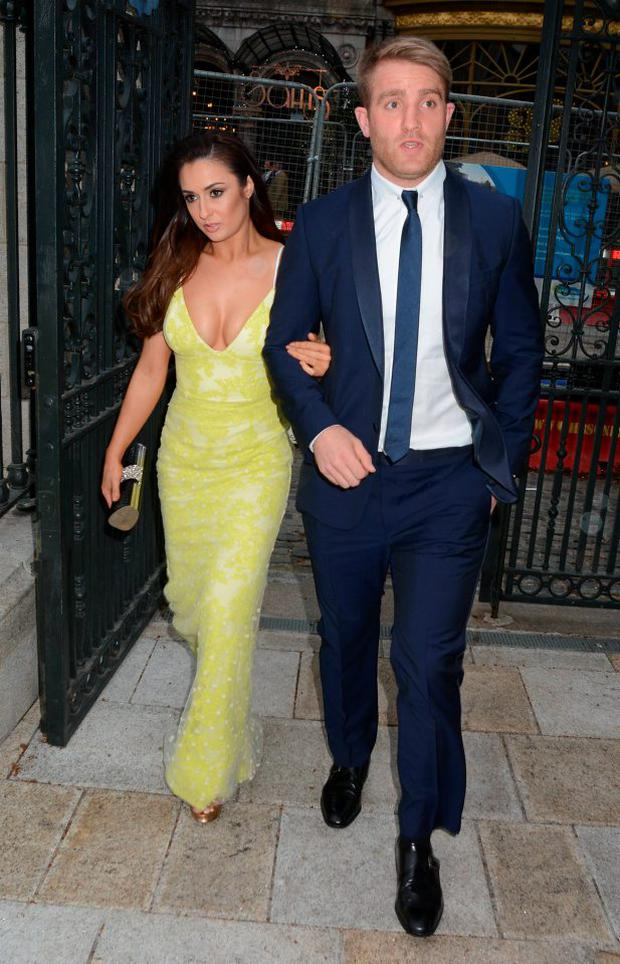 Luke Fitzgerald and Cheryl O'Rourke at the 2014 Leinster Ball