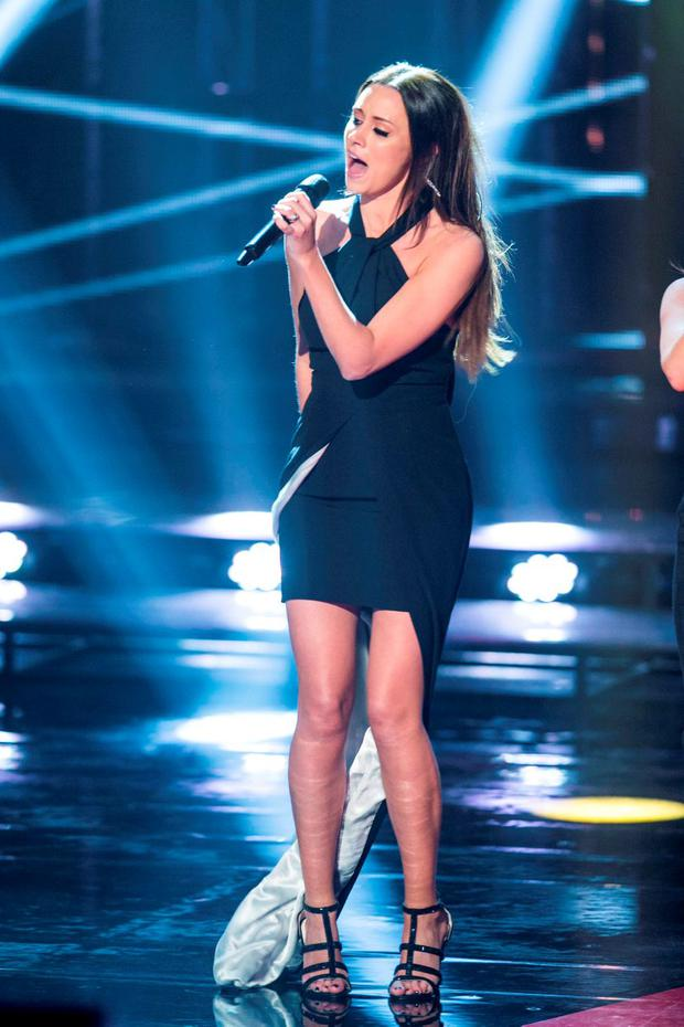 Una Foden during the Final live show of The Voice of Ireland in The Helix
