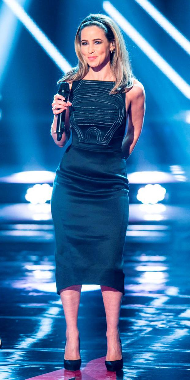 Rachel Stevens during the Final live show of The Voice of Ireland in The Helix