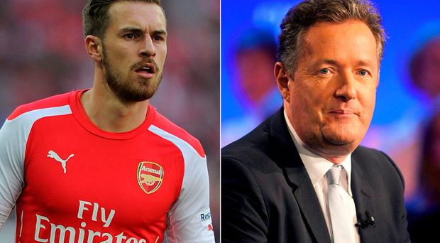 Aaron Ramsey and Piers Morgan