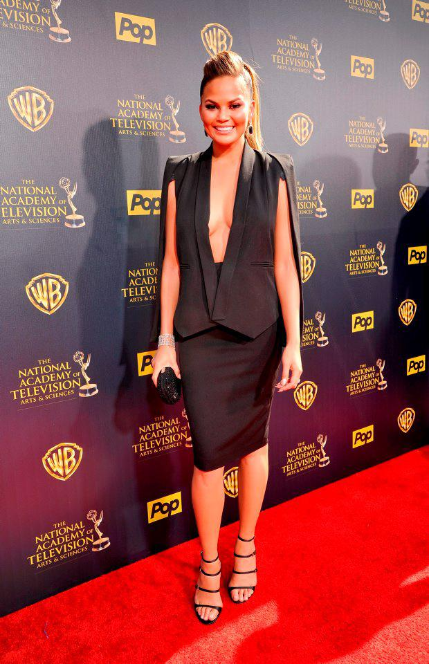 Model Chrissy Teigen attends The 42nd Annual Daytime Emmy Awards at Warner Bros. Studios on April 26, 2015 in Burbank, California. (Photo by John Sciulli/Getty Images for NATAS)