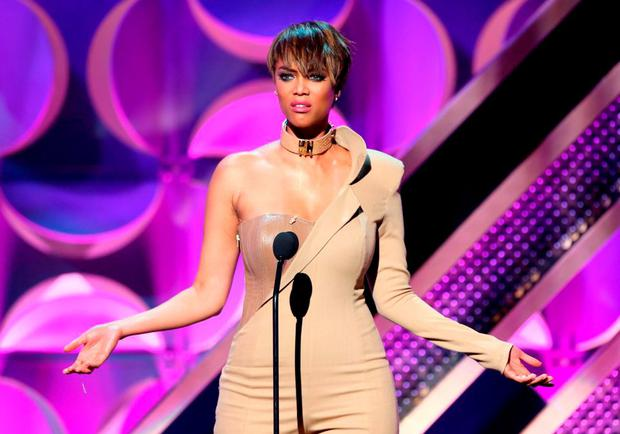 Host Tyra Banks onstage during The 42nd Annual Daytime Emmy Awards at Warner Bros. Studios on April 26, 2015 in Burbank, California. (Photo by Jesse Grant/Getty Images for NATAS)