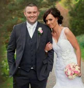 The late Shane Mulholland with his wife Vanessa. Pic: Belfast Telegraph