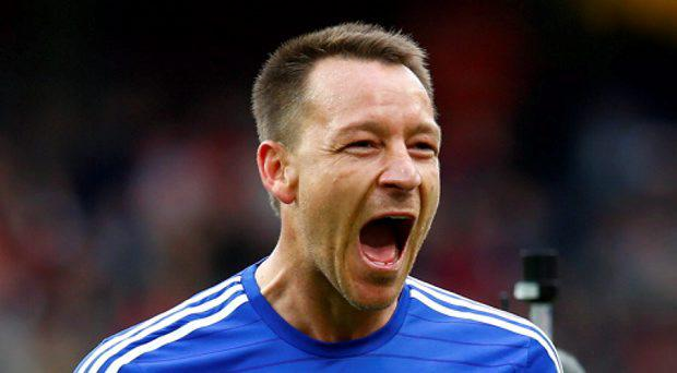 Chelsea's John Terry celebrates at the end