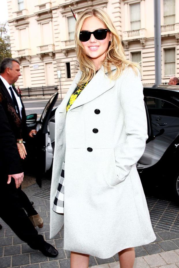 Kate Upton sighted arriving at the Vogue Festival on April 26, 2015 in London, England. (Photo by Fred Duval/FilmMagic,)