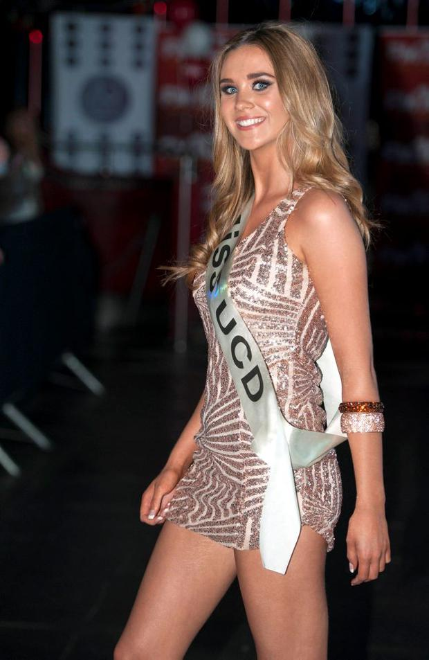Caroline Shanahan of UCD wins Miss University Ireland 2015 and goes on to the final of Miss Universe Ireland 2015, Dandelion Bar