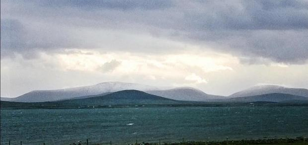 Snow on Achill Island in County Mayo Credit: Katrina Gallagher