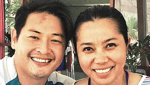 Andrew Chan and Febyanti got engaged in February Credit: AFP