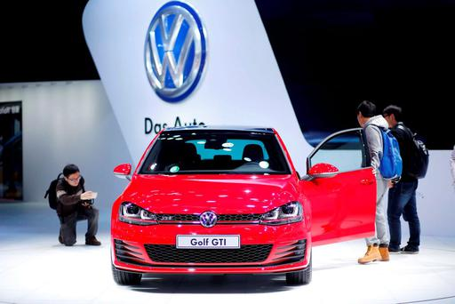 A Volkswagen GTI car is seen during a presentation at the 16th Shanghai International Automobile Industry Exhibition in Shanghai. Photo: Reuters