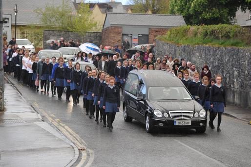 Guard of honour from St Mary's Convent Pic Michael Mac Sweeney/Provision