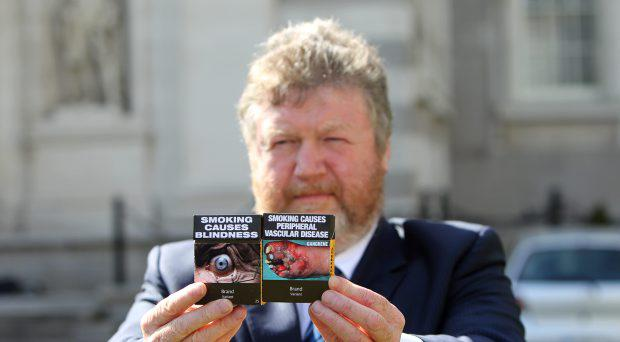 Former Minister for Health, James Reilly, T.D. announcing the intention for plain packet cigarettes