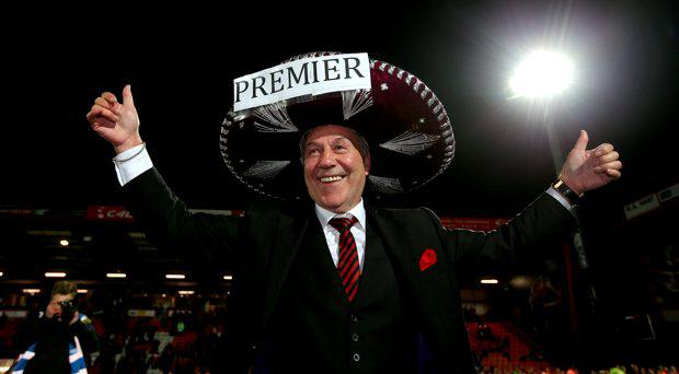 Bournemouth Chairman Jeff Mostyn celebrates on the pitch after the final whistle during the Sky Bet Championship match at Dean Court, Bournemouth