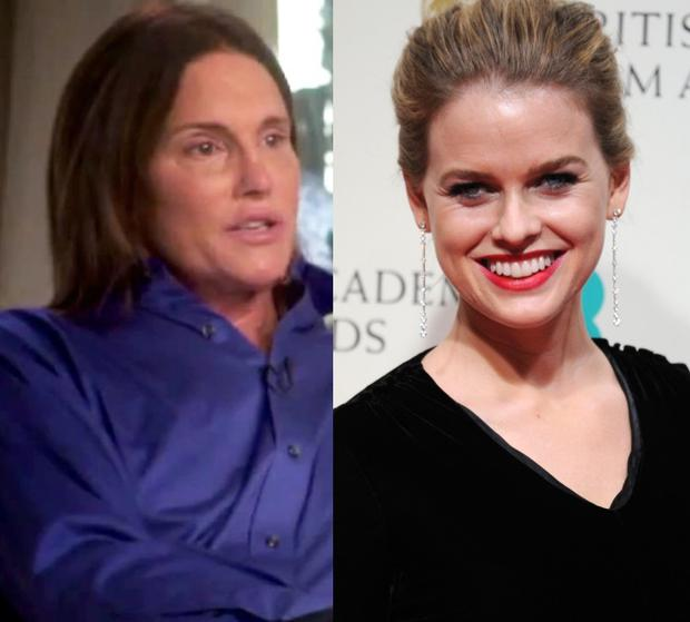 Bruce Jenner (left) and Alice Eve (right)